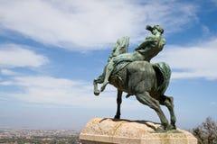 Bronzestatue, Rhodes Memorial Lizenzfreie Stockfotos