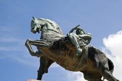 Bronzestatue, Rhodes Memorial Lizenzfreie Stockfotografie