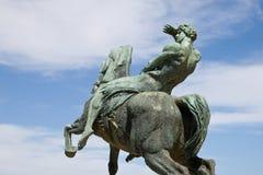 Bronzestatue, Rhodes Memorial Stockfotos