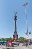 Bronzestatue von Colombo - Barcelona - Spanien stockbilder