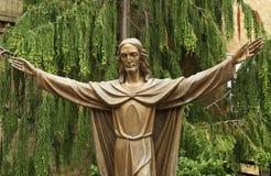 Bronzestatue von Jesus Christ stockfotografie