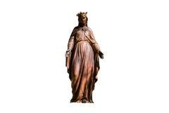 Bronzestatue von Jungfrau Maria Lizenzfreies Stockbild