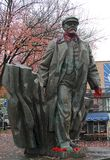 Bronzestatue von Vladimir Lenin durch Emil Venkov in Seattle stockfotos