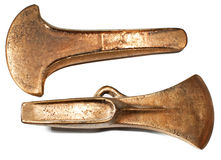 Bronzezeitalter-Axt-Köpfe Lizenzfreie Stockfotos