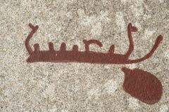 Bronzezeitalter Schiffsschnitzen Lizenzfreie Stockbilder