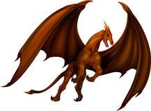 Bronzo del drago Fotografie Stock