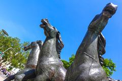 Bronzo del gruppo del cavallo da Bonifatius Stirnberg, Aquisgrana immagine stock
