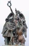 Bronzo del memoriale di guerra Fotografie Stock Libere da Diritti