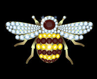 Brooch-bee Royalty Free Stock Image