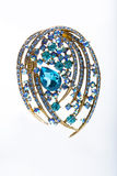 Brooch with colored stones Royalty Free Stock Photography