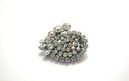 Brooch del diamante Immagine Stock