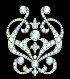 Brooch with diamonds Royalty Free Stock Photography