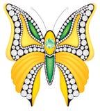 Brooch do vetor com diamantes Imagem de Stock Royalty Free