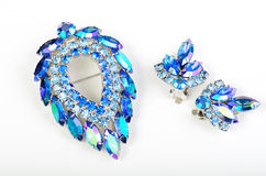 Brooch and Earings Stock Photography