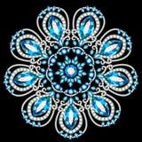 Brooch jewelry, design element. Geometric vintage ornamental background. Mandala brooch jewelry, design element. Geometric vintage ornamental background royalty free illustration