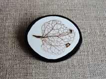 Brooch made from natural leaf skeleton Royalty Free Stock Image