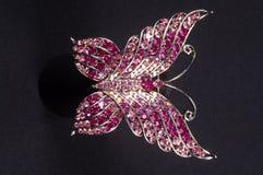 Brooch na forma de uma borboleta Fotos de Stock Royalty Free