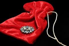 Free Brooch On Velvet Bag Stock Image - 398951