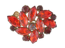 Brooch from ruby Royalty Free Stock Photo