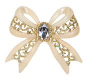 Brooch in the shape of a bow Stock Photo
