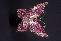 Brooch in the shape of a butterfly Royalty Free Stock Photos