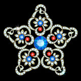 Brooch-star Royalty Free Stock Image