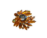 Brooch with stones Royalty Free Stock Images