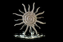 Brooch the sun Royalty Free Stock Photography