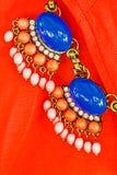 Brooches of gemstones Stock Photo