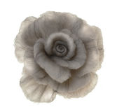 Brooches-rose from coloured felt. On white royalty free stock images