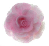Brooches-rose from coloured felt Stock Photo
