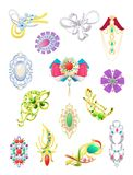 Brooches Stock Images