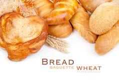 Brood, brood, baguette, ongezuurd broodje, tarwe royalty-vrije stock afbeeldingen