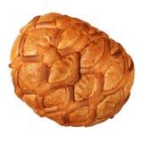 Brood dat op wit wordt geïsoleerdc Stock Foto's