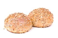 Brood, dat op wit wordt geïsoleerdo stock foto