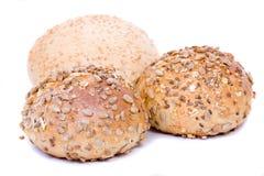 Brood, dat op wit wordt geïsoleerdv Stock Foto