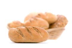 Brood, dat op wit wordt geïsoleerdv Stock Fotografie