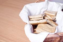 Brood in een mand Stock Fotografie