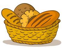 Brood in een mand Royalty-vrije Stock Fotografie
