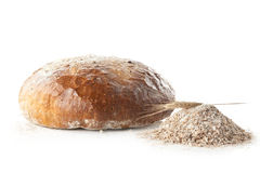 Brood en bloem Royalty-vrije Stock Foto's