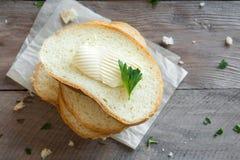 Brood en boter royalty-vrije stock afbeeldingen