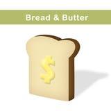 Brood en boter Royalty-vrije Stock Foto