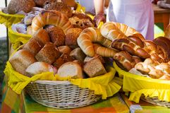 Brood en Broodje Stock Afbeelding