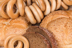 Brood en broodjes royalty-vrije stock afbeelding