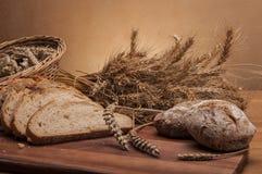 Brood en broodjes traditioneel thema Stock Fotografie