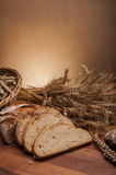 Brood en broodjes traditioneel thema Royalty-vrije Stock Foto's