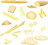 Brood en deegwaren   stock illustratie
