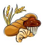 Brood en gebakje Stock Fotografie