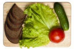 Brood en groenten Royalty-vrije Stock Afbeeldingen
