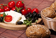 Brood en groenten Stock Foto's